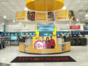 Loja H.H.Gregg em Orlando: interior da loja