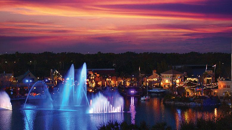 Parque SeaWorld em Orlando: lago do parque