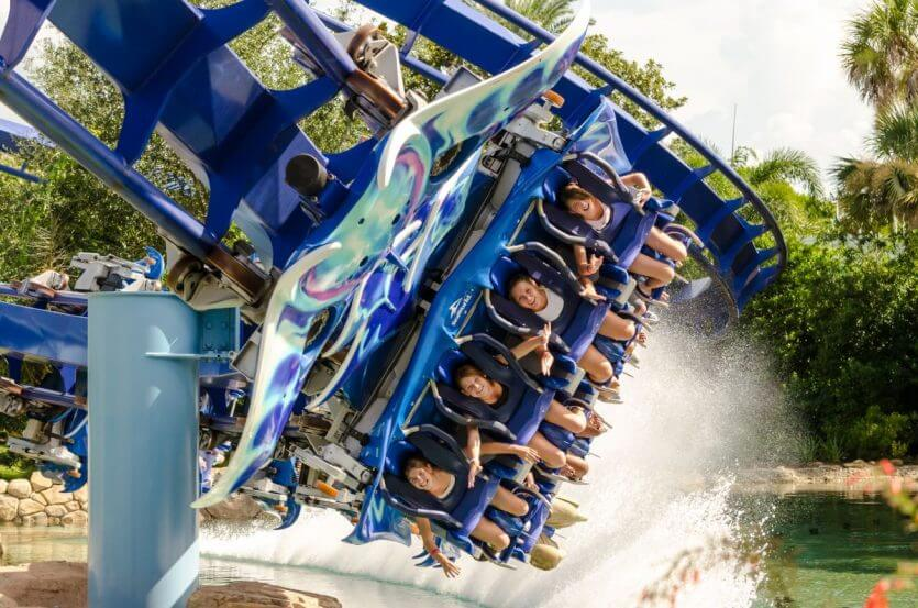 Montanha-russa Manta no parque SeaWorld Orlando