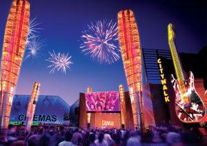 Ano Novo na Universal Studios em Orlando: Universal CityWalk