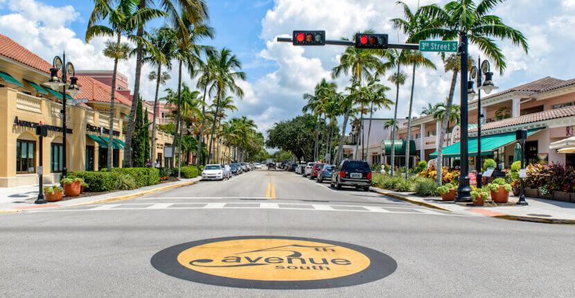 5th Avenue South em Naples na Fórida