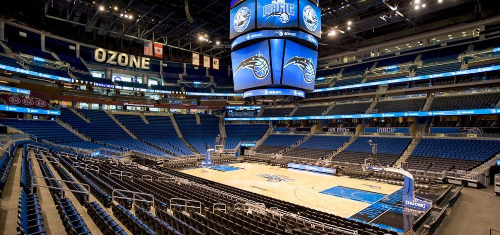 Jogo de basquete da NBA do Orlando Magic