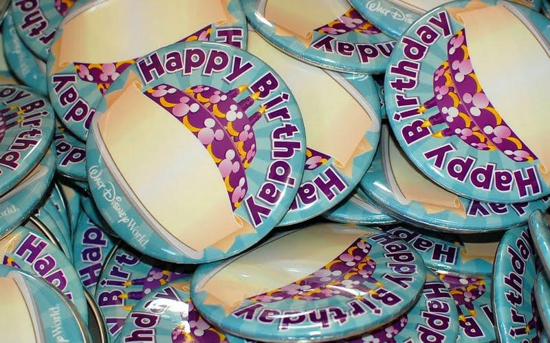 Aniversário na Disney e parques de Orlando: bottom de aniversário da Disney