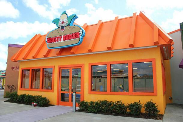Restaurantes do parque Universal Studios em Orlando: restaurante Krusty Burger