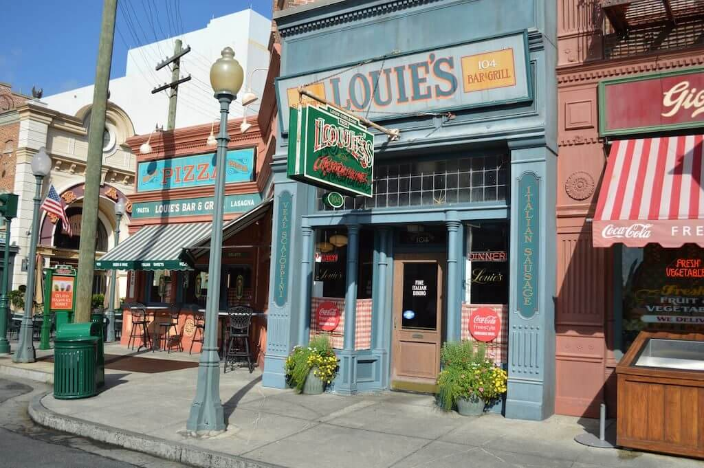 Restaurantes do parque Universal Studios em Orlando: Louie's Italian Restaurant