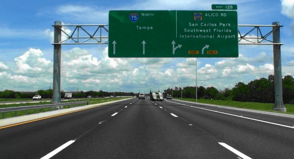 Viagem de carro de Miami a Tampa ou de Tampa a Miami: rodovia