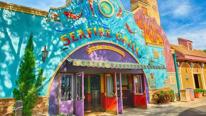 Restaurantes do parque SeaWorld em Orlando: restaurante Seafire Grill