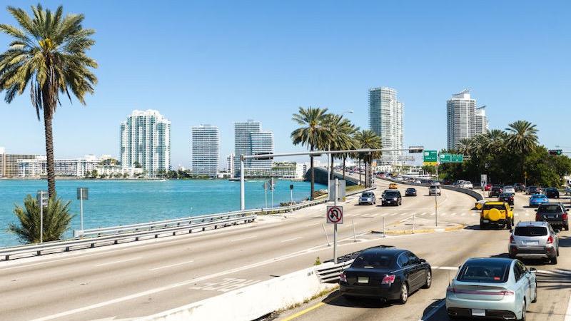 Viagem de carro de Miami a Orlando