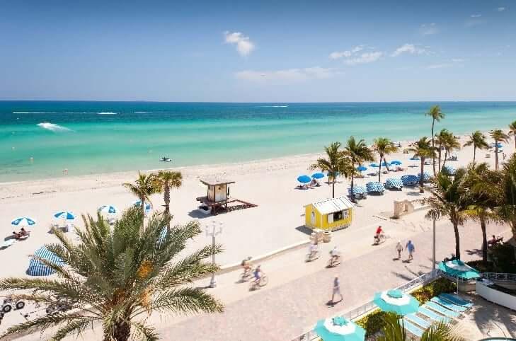 Hollywood Beach em Miami