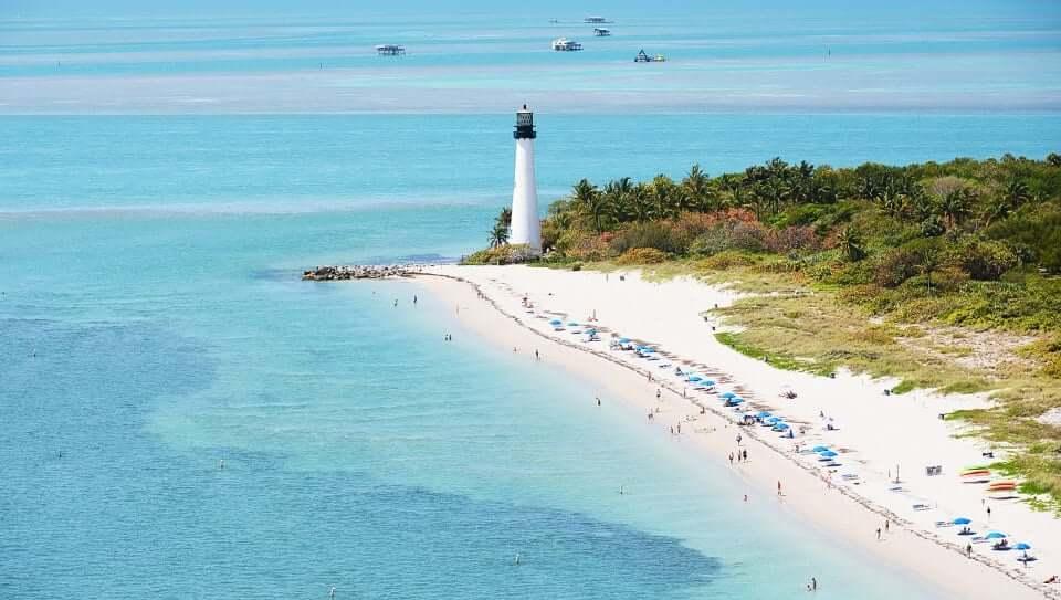 Praia Biscayne em Miami