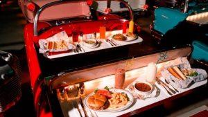 Restaurante Sci-Fi Dine-In na Disney Orlando: pratos