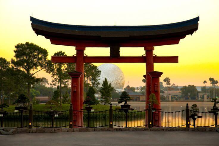 Pavilhão do Japão no parque Epcot da Disney Orlando