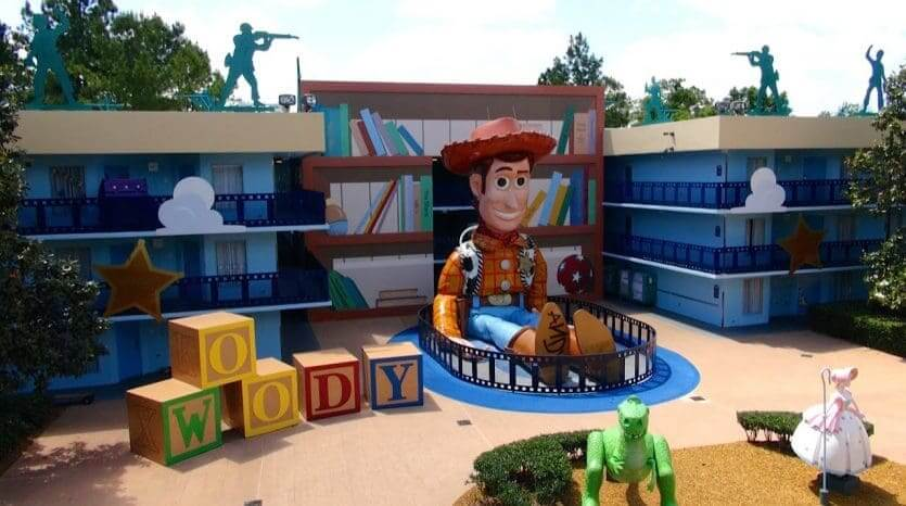 Hotéis com atendimento em português em Orlando: hotel Disney's All-Star Movies Resort