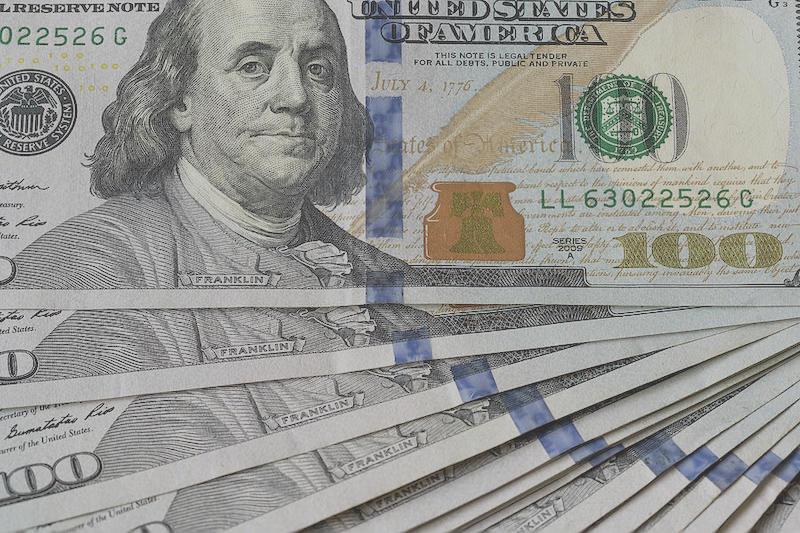 Notas de 100 dólares nos Estados Unidos
