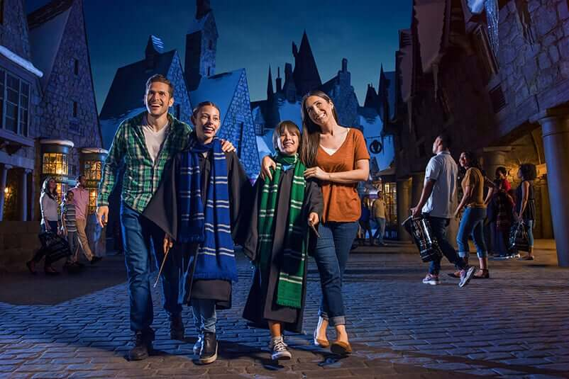 Natal do Harry Potter na Universal Orlando: Hogsmeade no parque Islands of Adventure