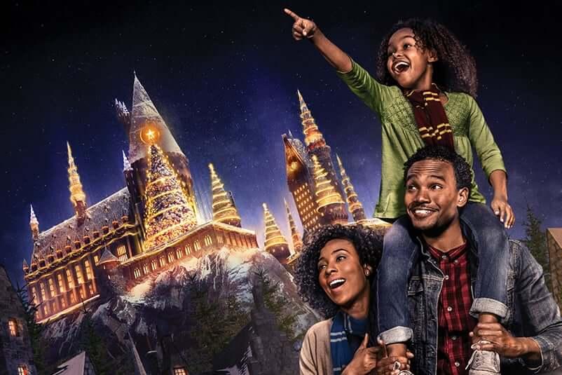 Natal do Harry Potter na Universal Orlando: Castelo de Hogwarts