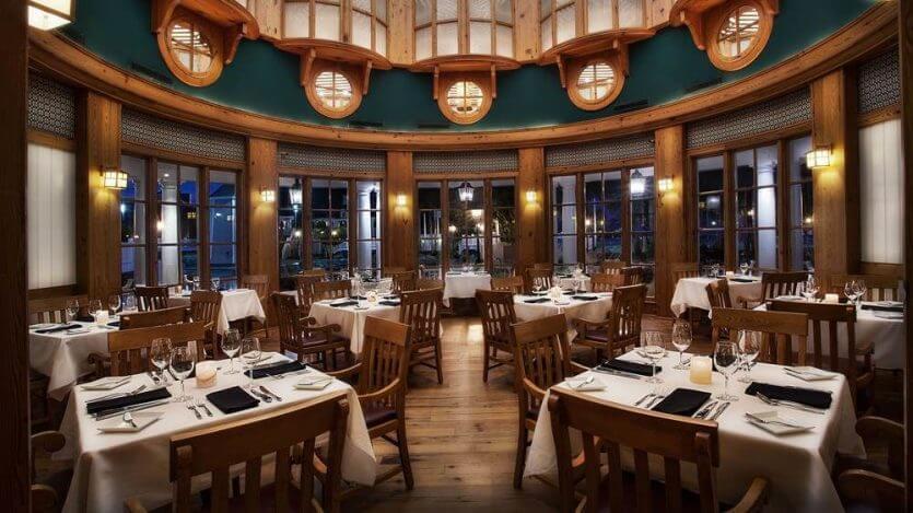 Melhores restaurantes dos hotéis da Disney em Orlando: restaurante Yachtsman Steakhouse