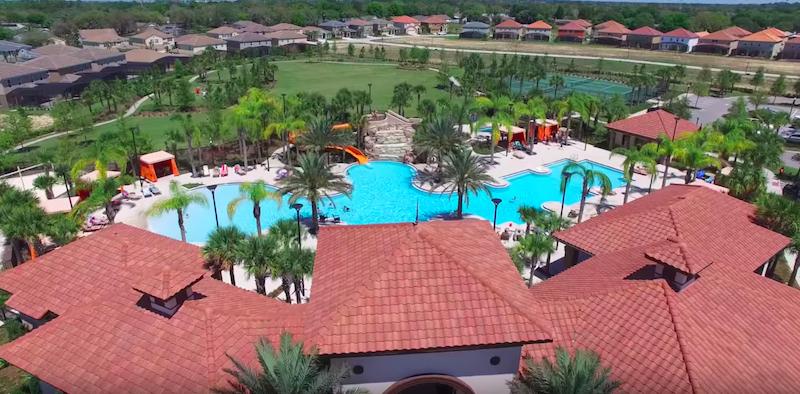 Condomínio de casas Solterra Resort em Orlando: área