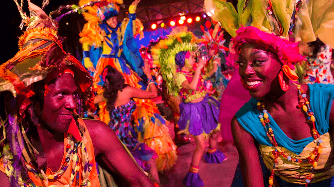Shows, paradas e apresentações no parque Disney Animal Kingdom Orlando: Discovery Island Carnivale