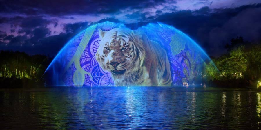 Show de projeção no parque Animal Kingdom da Disney Orlando
