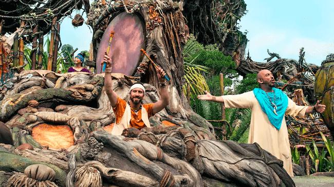 Shows, paradas e apresentações no parque Disney Animal Kingdom Orlando: Swotu Wayä Na'vi Drum Ceremony