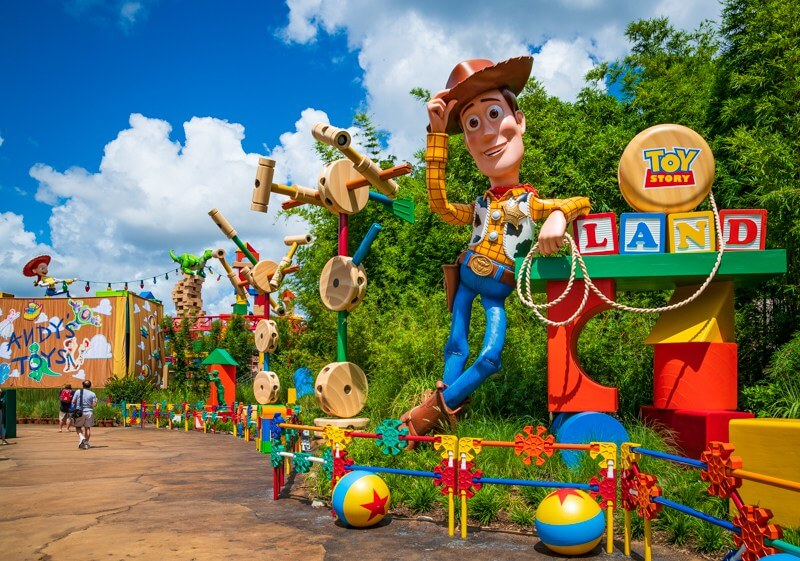 Toy Story Land no parque Hollywood Studios da Disney Orlando
