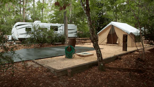 The Campsites e Cabins no Disney's Fort Wilderness Resort: área de acampamento