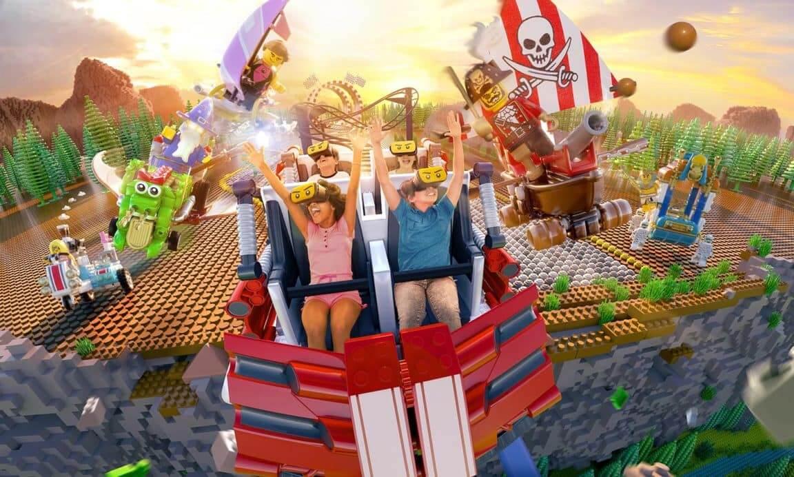 Parque Legoland da LEGO em Orlando: montanha-russa
