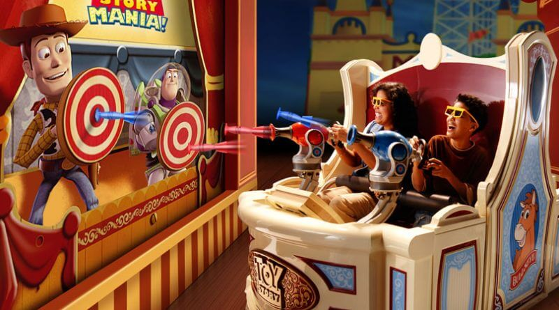 Toy Story Mania! no parque Hollywood Studios da Disney Orlando