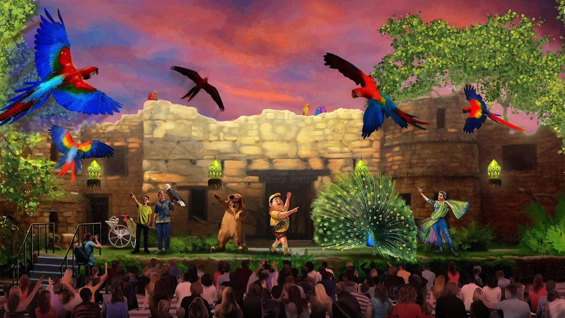 Novo show de Up! no Disney Animal Kingdom: UP! A Great Bird Adventure