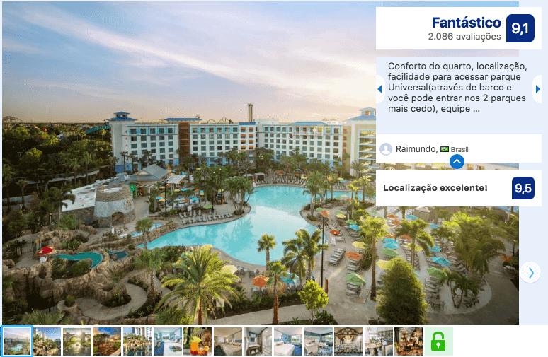 Melhores hotéis em Orlando: Universal's Loews Sapphire Falls Resort