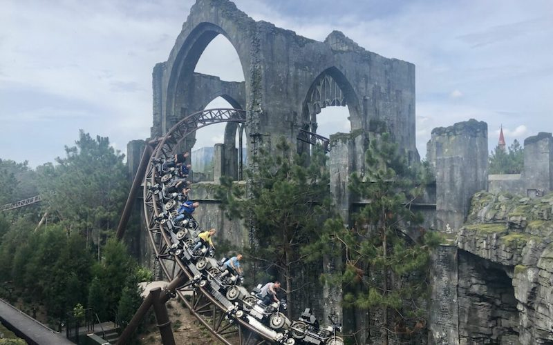 Hagrid's Magical Creatures Motorbike Adventure no parque Islands of Adventure em Orlando