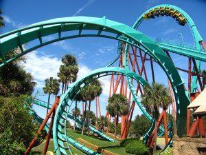 Parque Busch Gardens em Tampa: montanha-russa Kumba