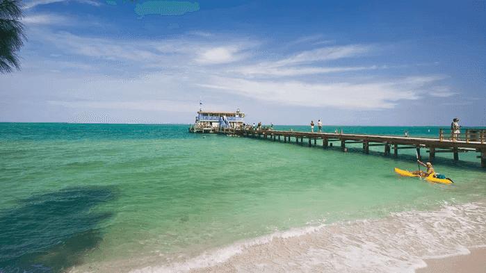 Anna Maria Island perto de Tampa na Flórida: Anna Maria City Pier