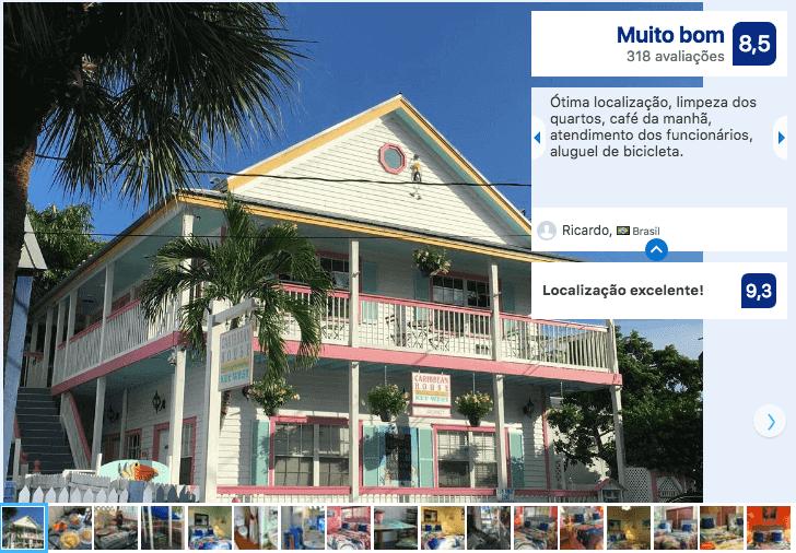 Dicas de hotéis em Key West: Hotel Caribbean House