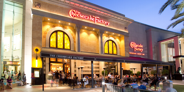 Onde comprar doces em Orlando: The Cheesecake Factory