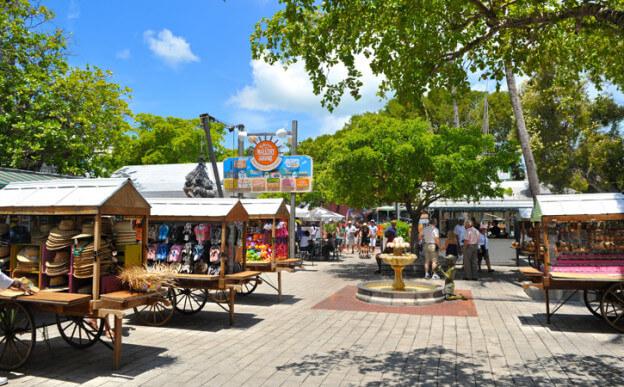 Compras em Key West: lojas em Mallory Square