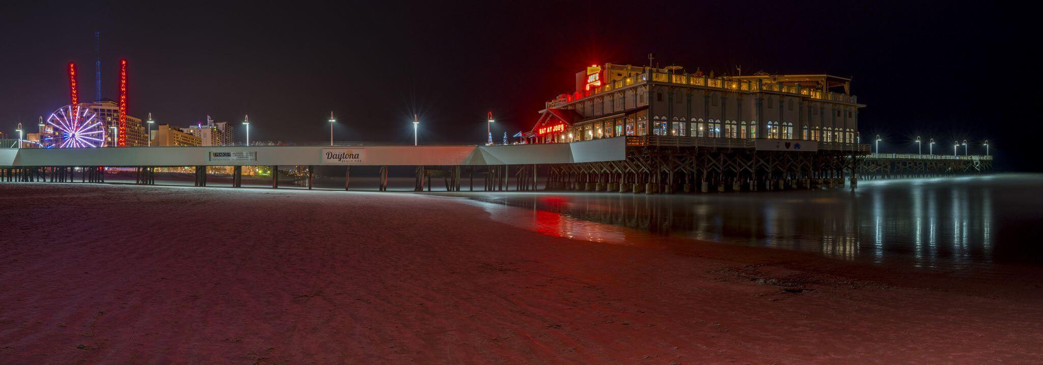 O que fazer à noite em Daytona Beach: píer