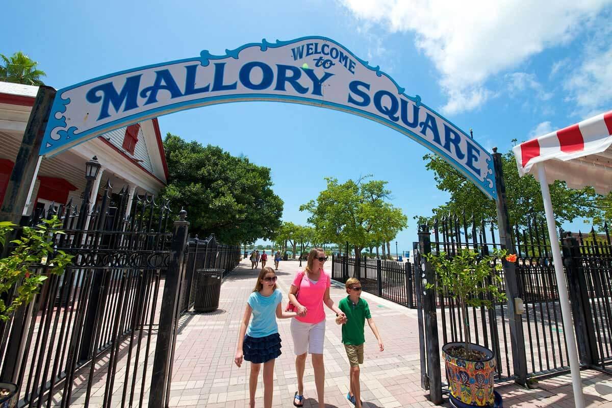 Compras em Key West: Mallory Square