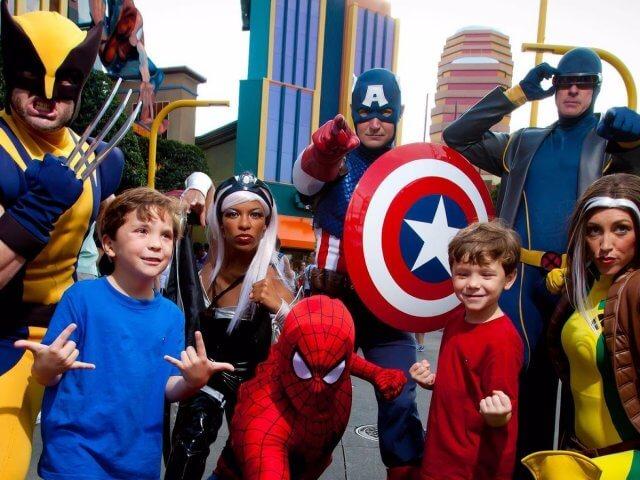 Jantar com super-heróis da Marvel na Universal Orlando