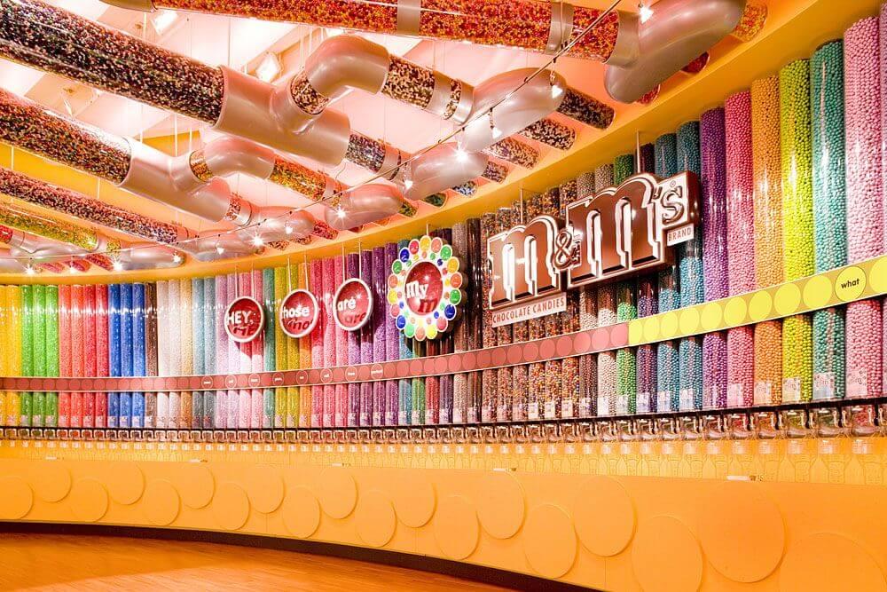 Onde comprar doces em Orlando: M&M's World