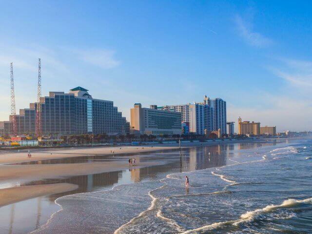 Praia em Daytona Beach