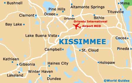 Onde ficar em Kissimmee: mapa