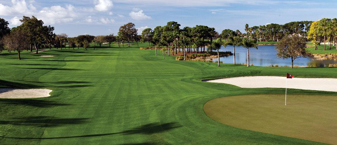 Pontos turísticos em Palm Beach: campo de golfe