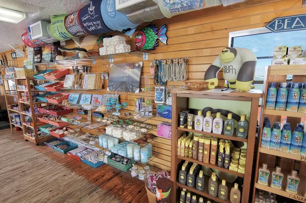 Compras em Cocoa Beach: loja em Cocoa Beach Pier