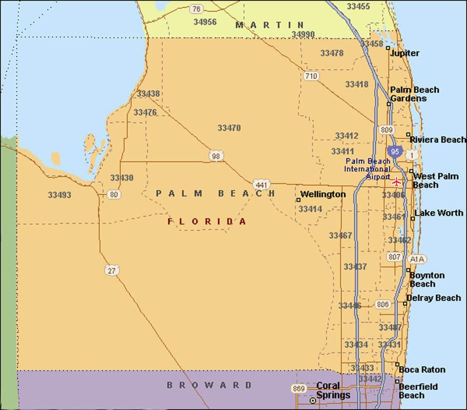 Onde ficar em Palm Beach: mapa