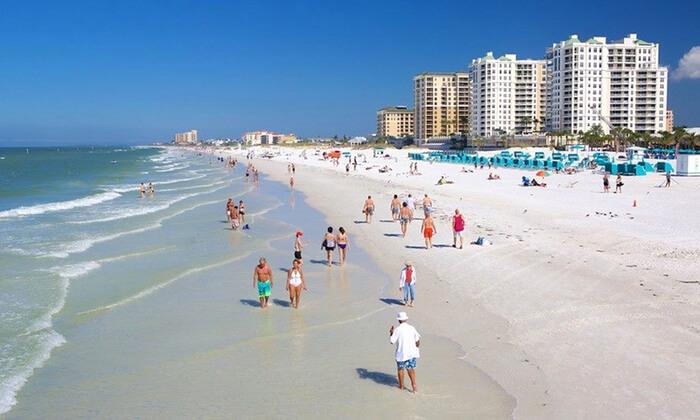 Pontos turísticos em Clearwater: praia