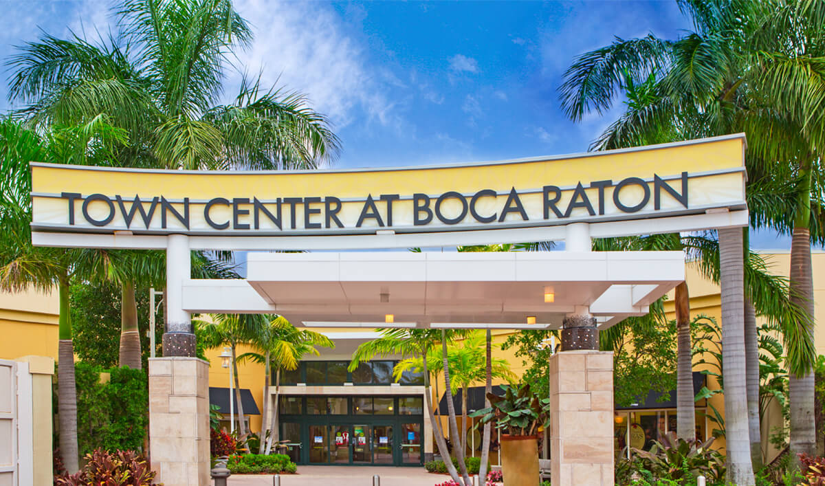 Compras em Palm Beach: shopping Town Center at Boca Raton