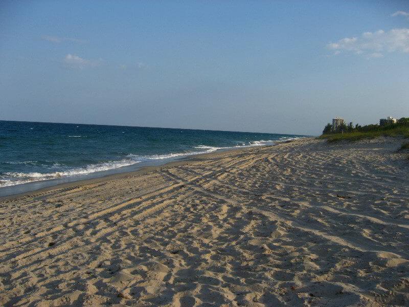 Praias em Palm Beach: praia em Boca Raton