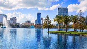 Lago Eola em Orlando